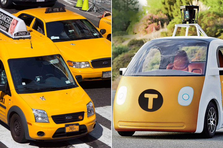 Google self driving taxi